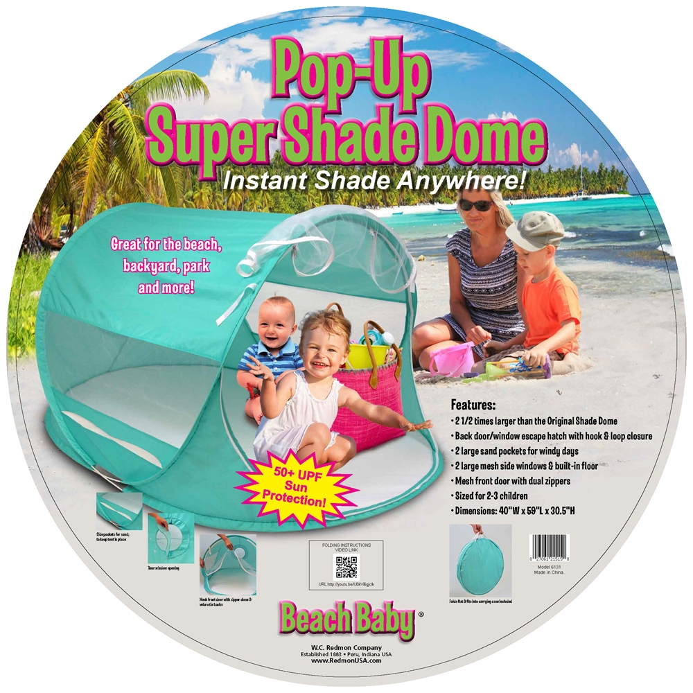 Beach Baby® Super Shade Dome, Teal. Picture 6