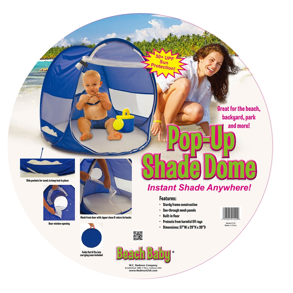 Beach Baby® Shade Dome, Blue. Picture 2