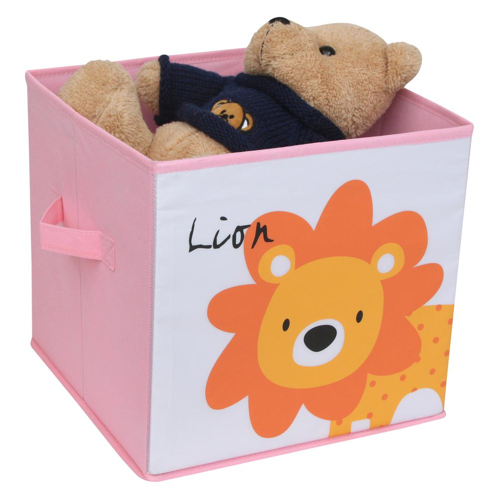 KIDS SAFARI Lion Box, Pink. Picture 1