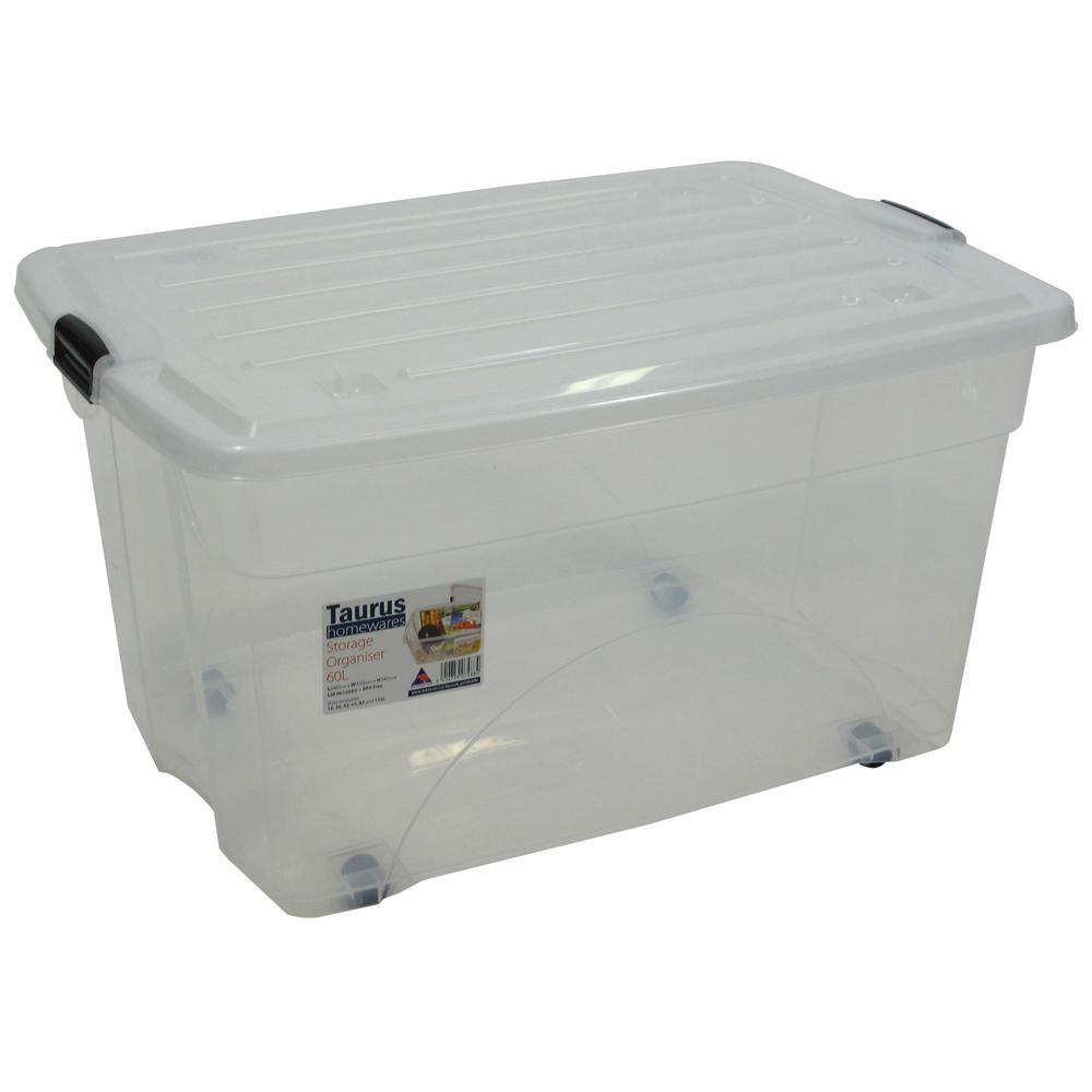16 Gallon Rolling Bin  Storage Organizer. Picture 1