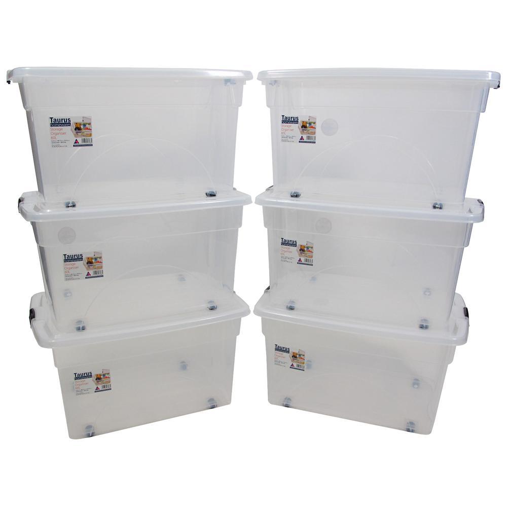 16 Gallon Rolling Bin  Storage Organizer. Picture 2
