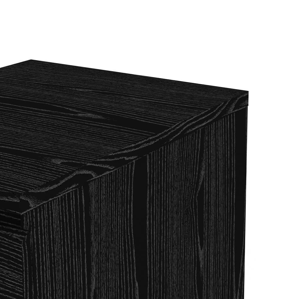 Scottsdale 2 Drawer Nightstand, Black Wood Grain. Picture 5