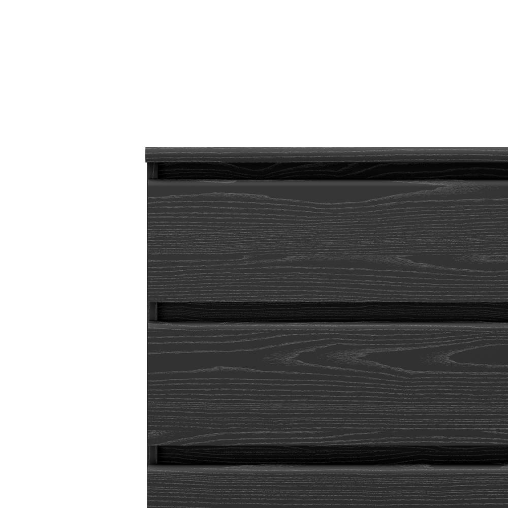 Scottsdale 6 Drawer Double Dresser, Black Wood Grain. Picture 11