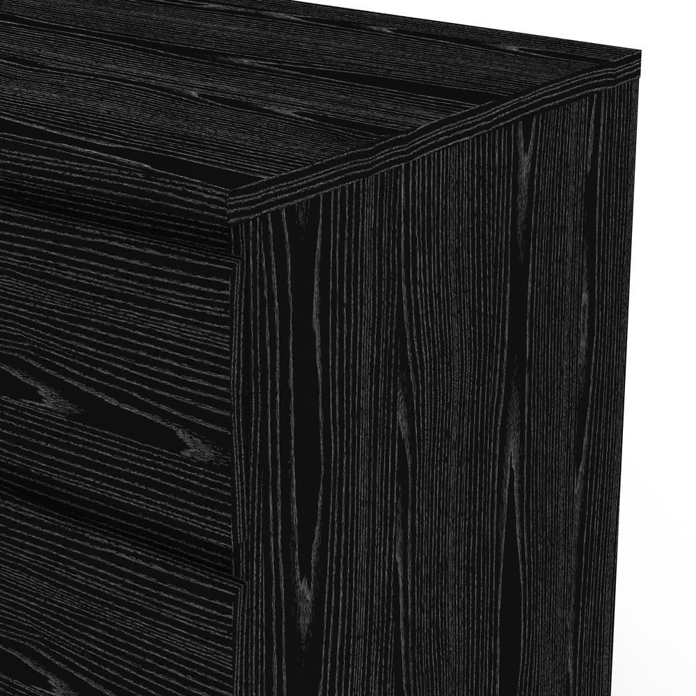 Scottsdale 6 Drawer Double Dresser, Black Wood Grain. Picture 14
