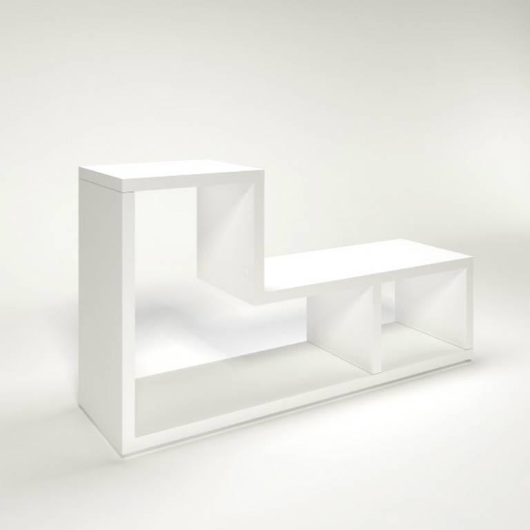 flexo 2 shelf bookcase white. Black Bedroom Furniture Sets. Home Design Ideas