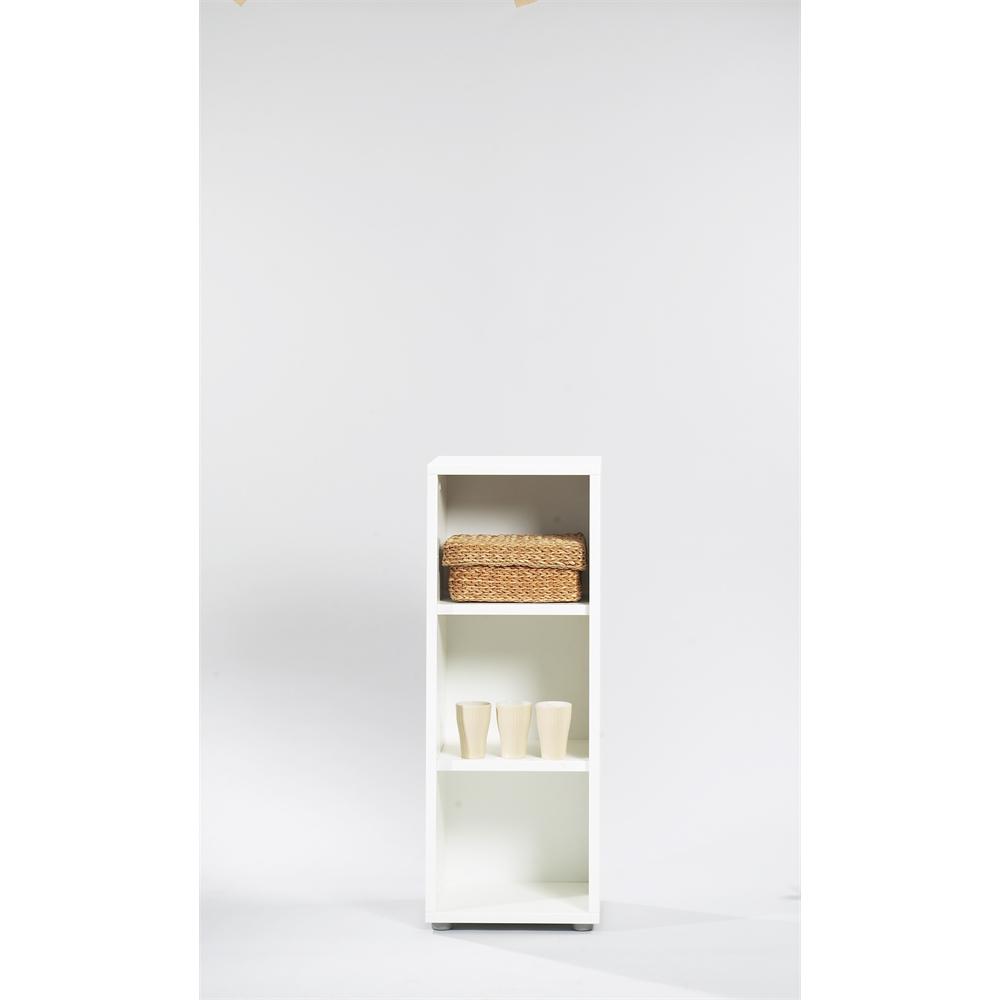 Tvilum Bocca 3 Shelf Narrow Bookcase White