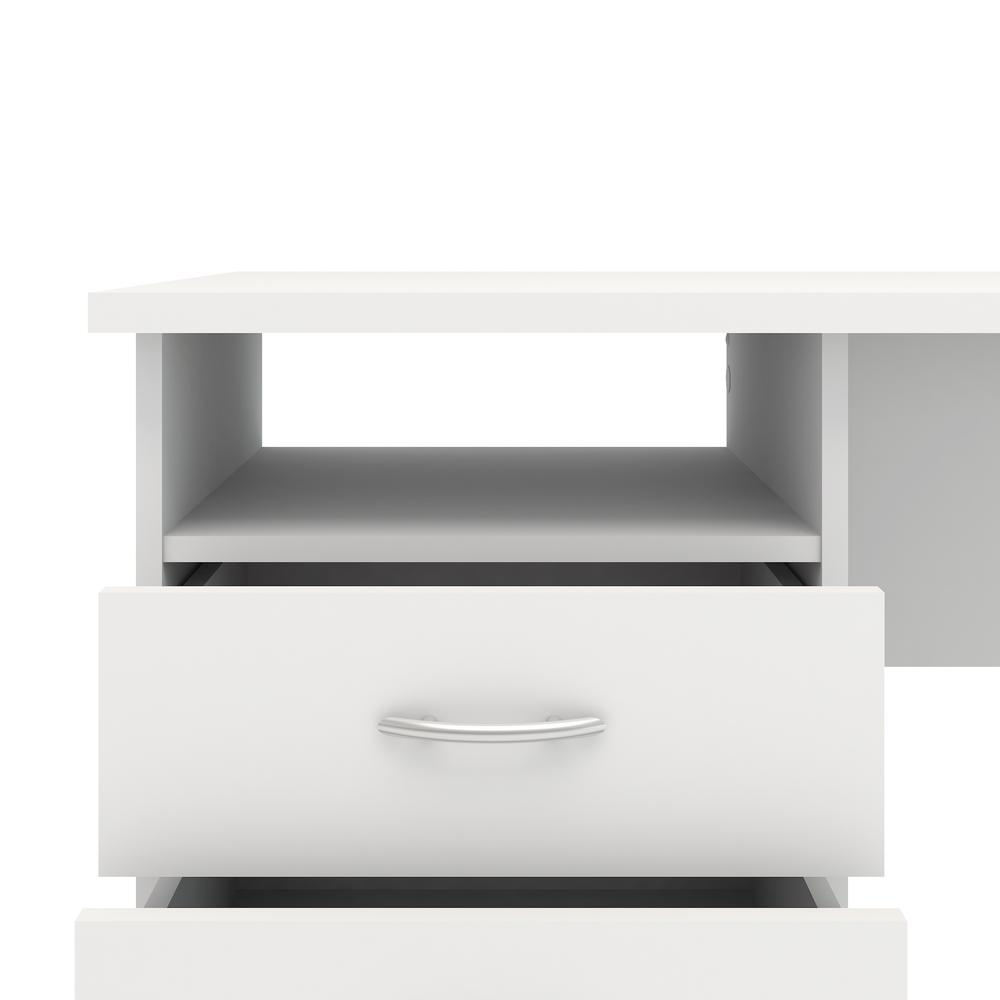 Desk with 3 Drawers, White. Picture 4