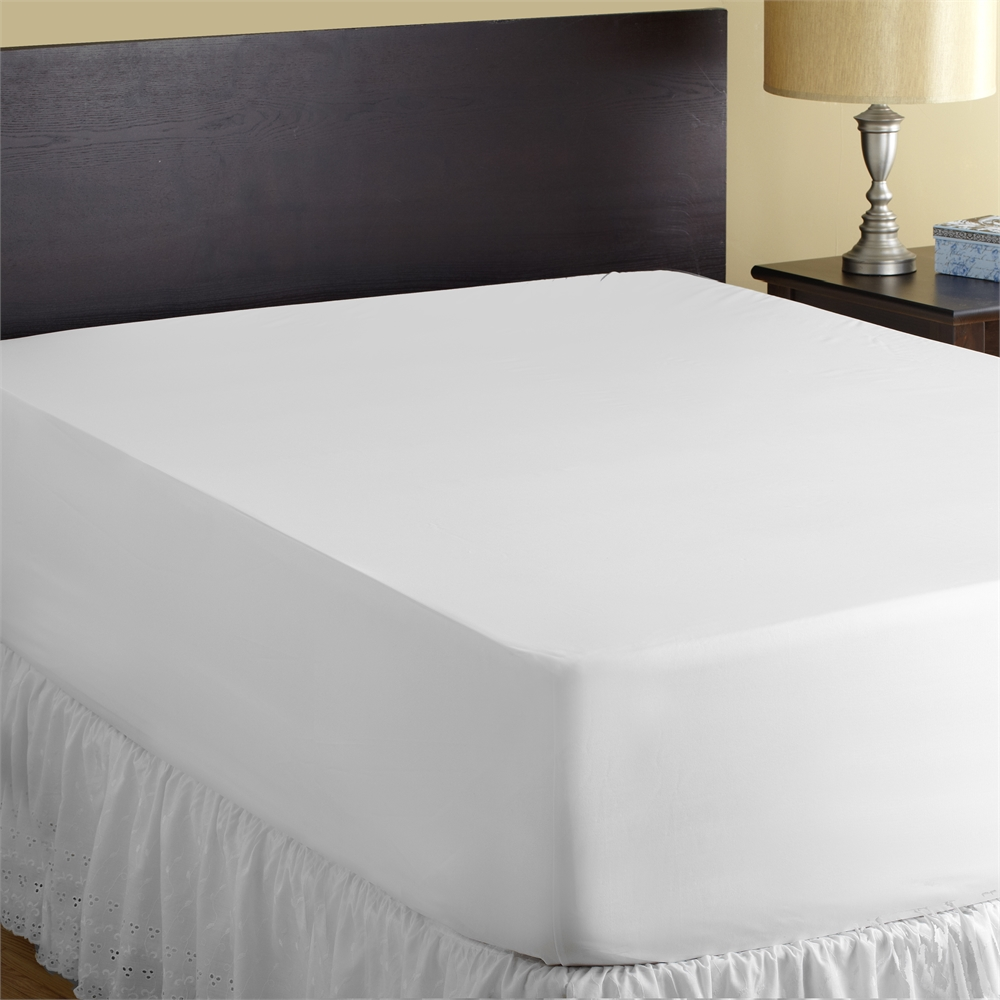 StainGuard® Cotton Terry Mattress Protector QUEEN, White