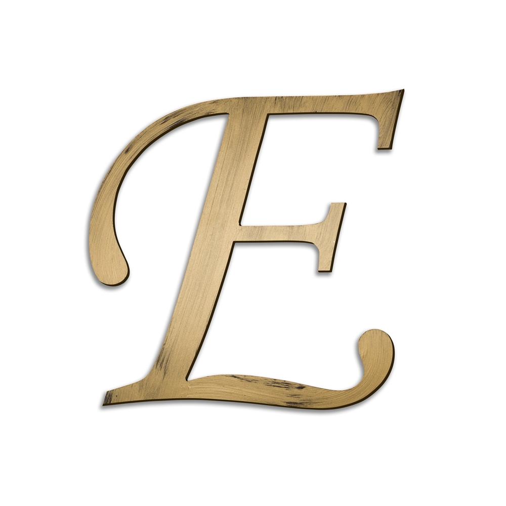 Individual Script Letters Wall Decor Letter E