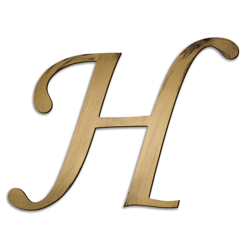 Individual Script Letters Wall Decor, Letter H