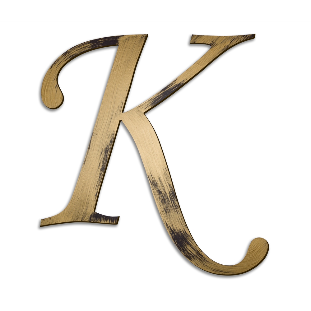 Individual Script Letters Wall Decor Letter K