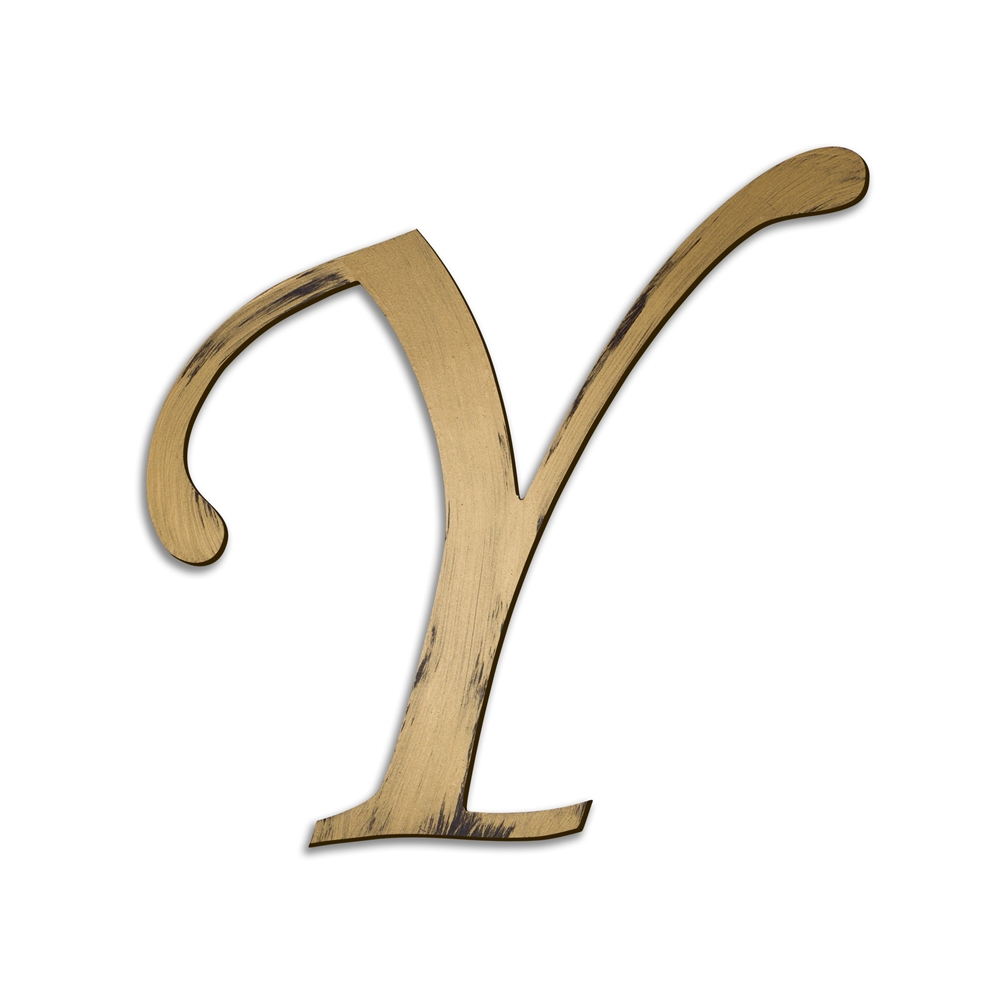 Individual Script Letters Wall Decor Letter Y