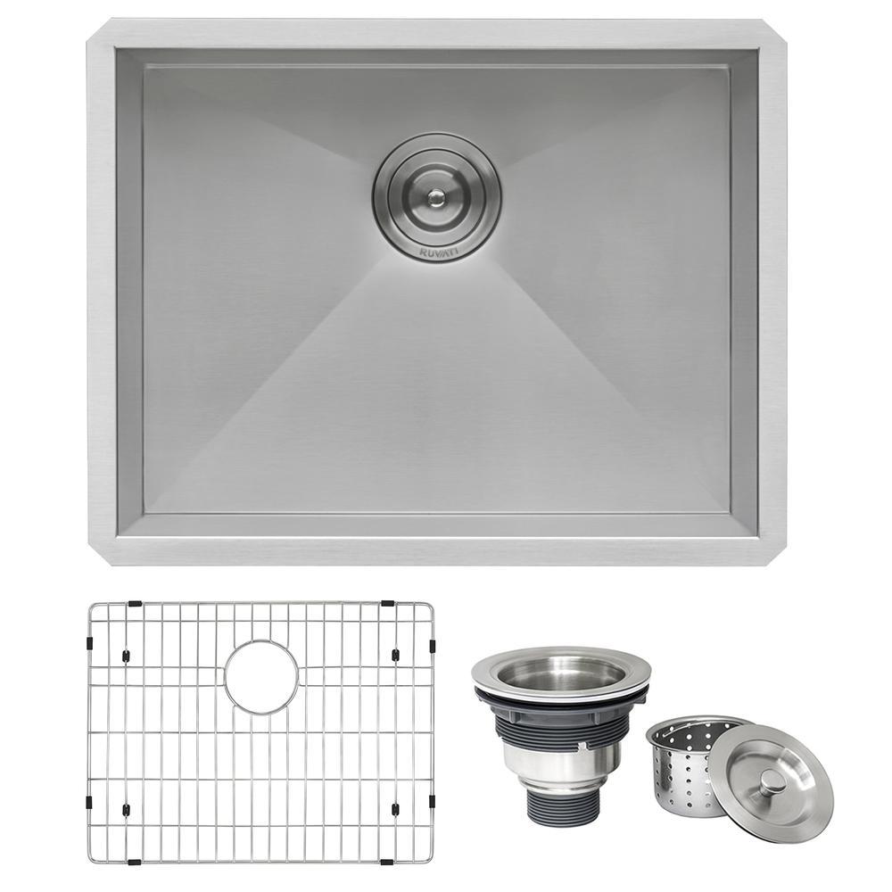 23-inch Undermount 16 Gauge Zero Radius Kitchen Sink Stainless Steel Single  Bowl