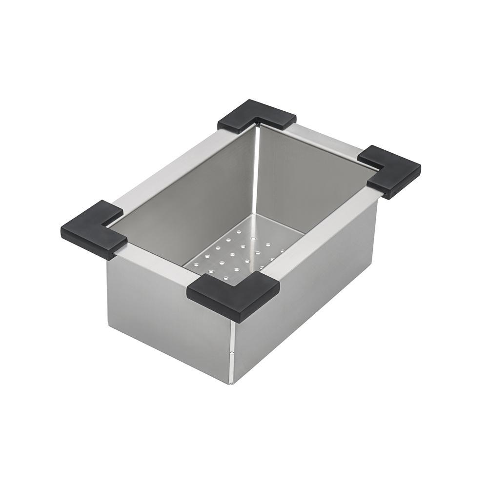 Ruvati 15 x 15 inch Workstation Drop-in Topmount Bar Prep RV Sink 16 Gauge Stainless Steel - RVH8215. Picture 3