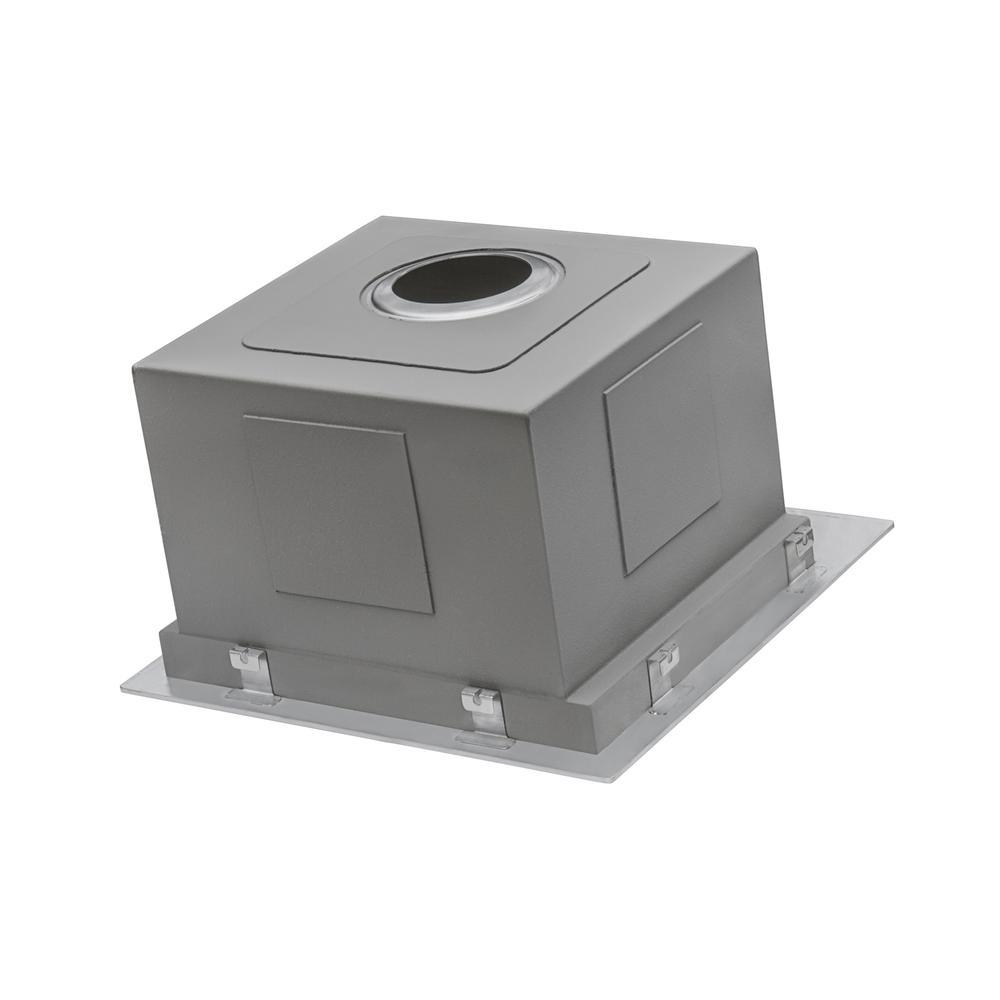 Ruvati 15 x 15 inch Workstation Drop-in Topmount Bar Prep RV Sink 16 Gauge Stainless Steel - RVH8215. Picture 16