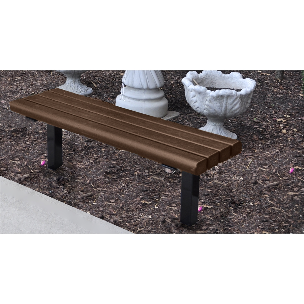 6 Ft Brown Creekside In Ground Bench
