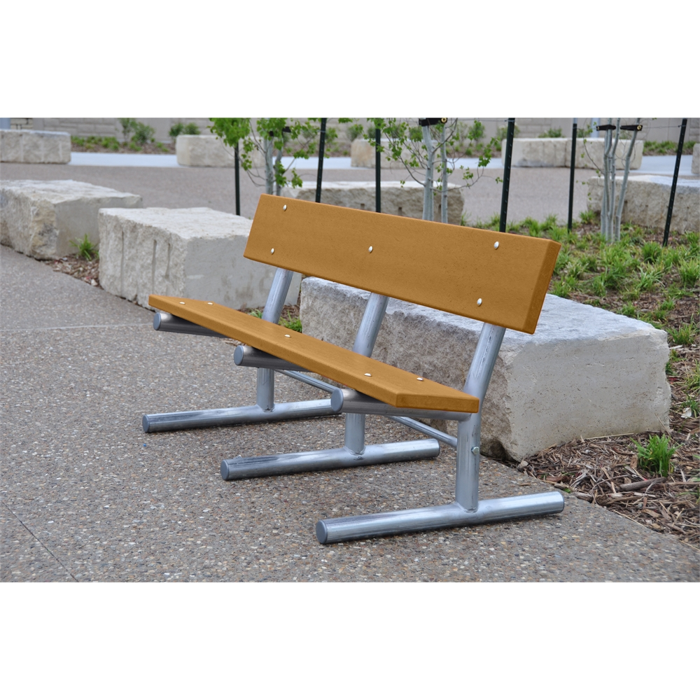 6 Ft Cedar Portable Madison Bench With Black Frame