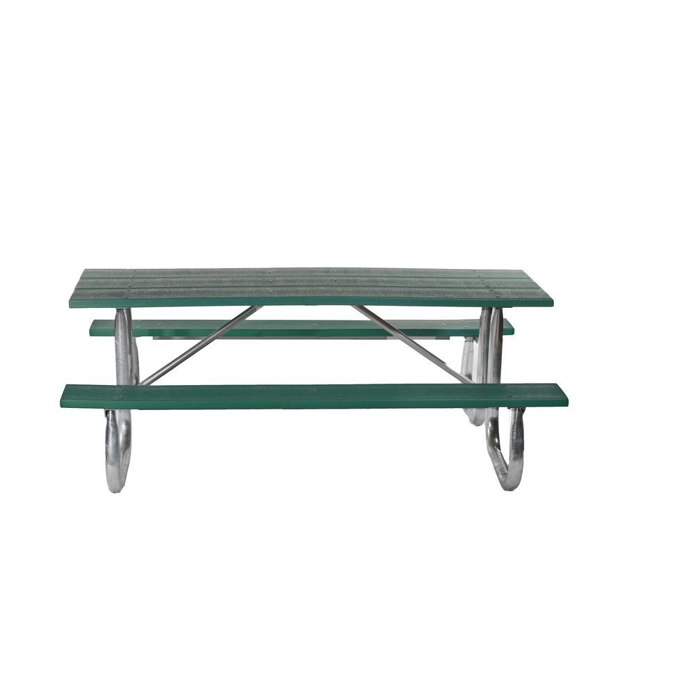 Ft Green Galvanized Frame Picnic Table - Galvanized picnic table frame