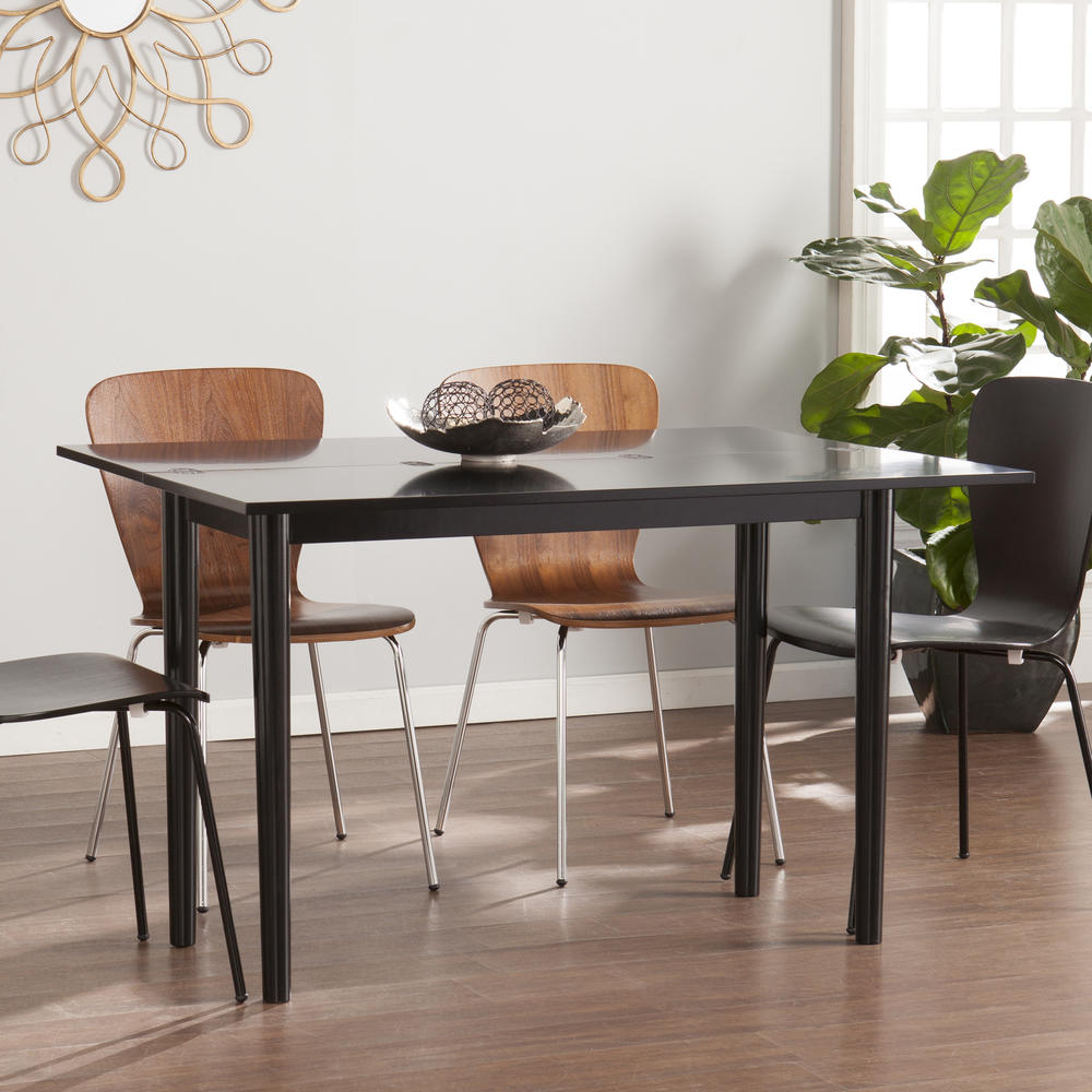 Carlow Flip Top Convertible Console To Dining Table - Convertible sofa table to dining table