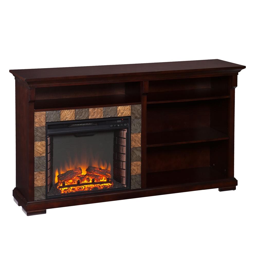 Gatlinburg bookshelf electric fireplace espresso for Best electric furniture
