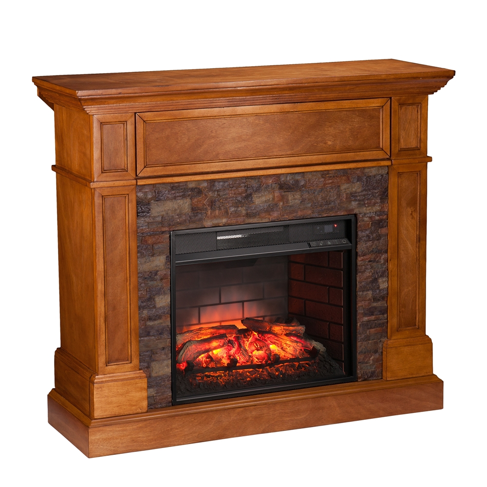 Corner Hearth: Rosedale Corner Infrared Electric Media Fireplace