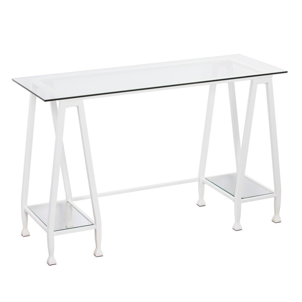 Jaymes Metal/Glass A-Frame Writing Desk