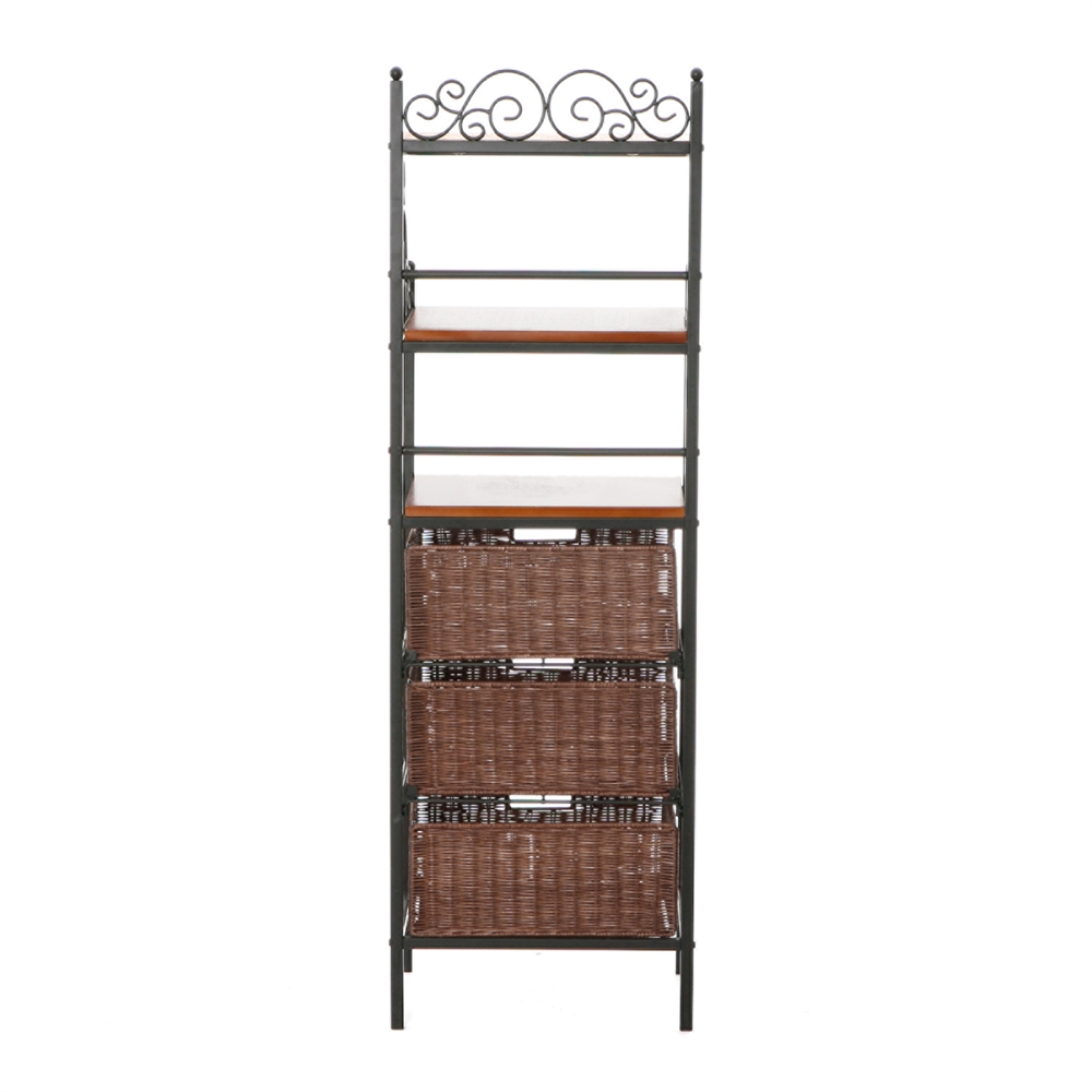 Manilla 3 Drawer Bakers Rack