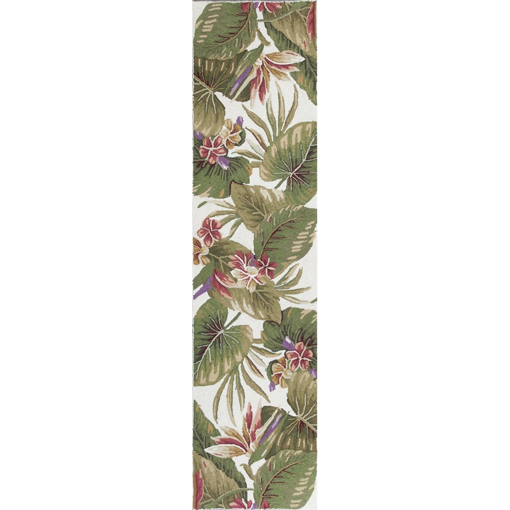 Colonial 1737 Ivory Tropical Paradise 2 X 8 Runner Size