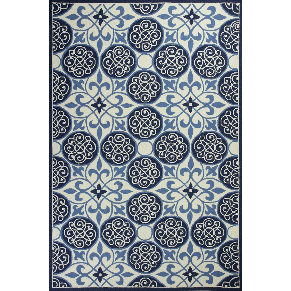 Colonial 1822 Ivory Blue Serendipity 20 Quot X 30 Quot Size Area Rug