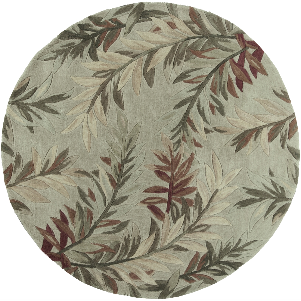 Sparta 3144 Sage Tropical Branches 7 6 Quot Round Size Area Rug