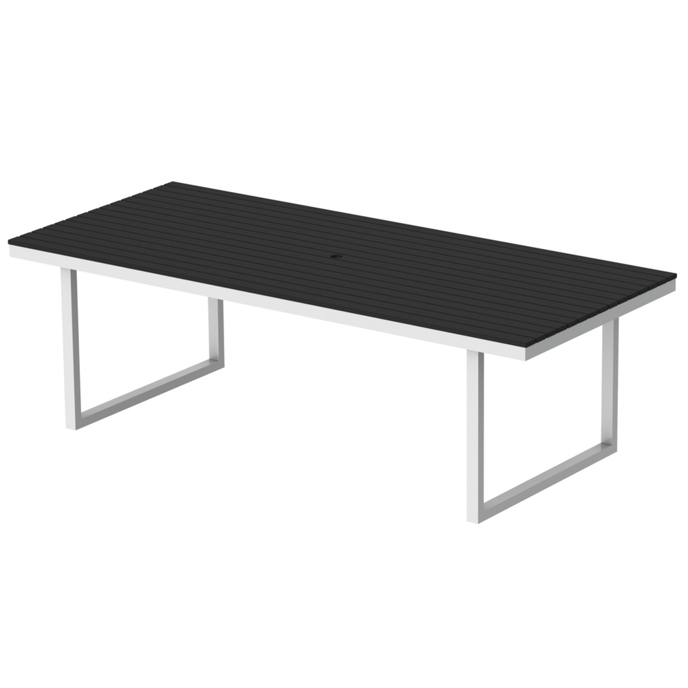 Kinzie Outdoor 96 x 42 Table HDPE Black Table Top  : 136kt1bdx429630awhb from www.bisonoffice.com size 1000 x 1000 jpeg 94kB