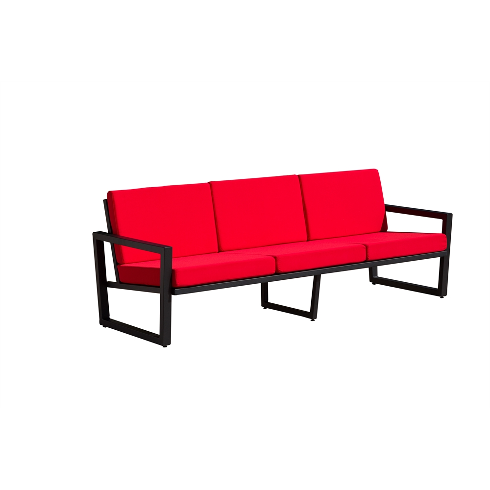 vero outdoor lounge sofa textured black with logo red. Black Bedroom Furniture Sets. Home Design Ideas