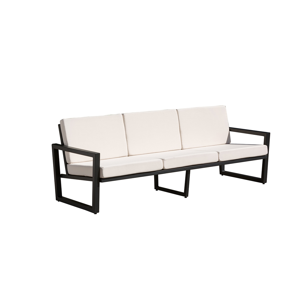 vero outdoor lounge sofa textured black with bird 39 s eye. Black Bedroom Furniture Sets. Home Design Ideas