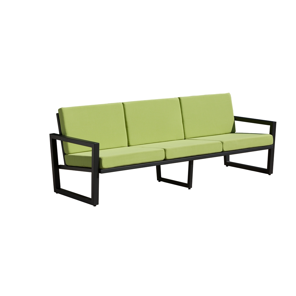 vero outdoor lounge sofa textured black with ginkgo sunbrella seat and back. Black Bedroom Furniture Sets. Home Design Ideas