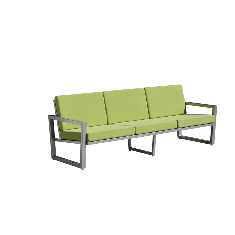 vero outdoor lounge sofa gloss silver with ginkgo. Black Bedroom Furniture Sets. Home Design Ideas