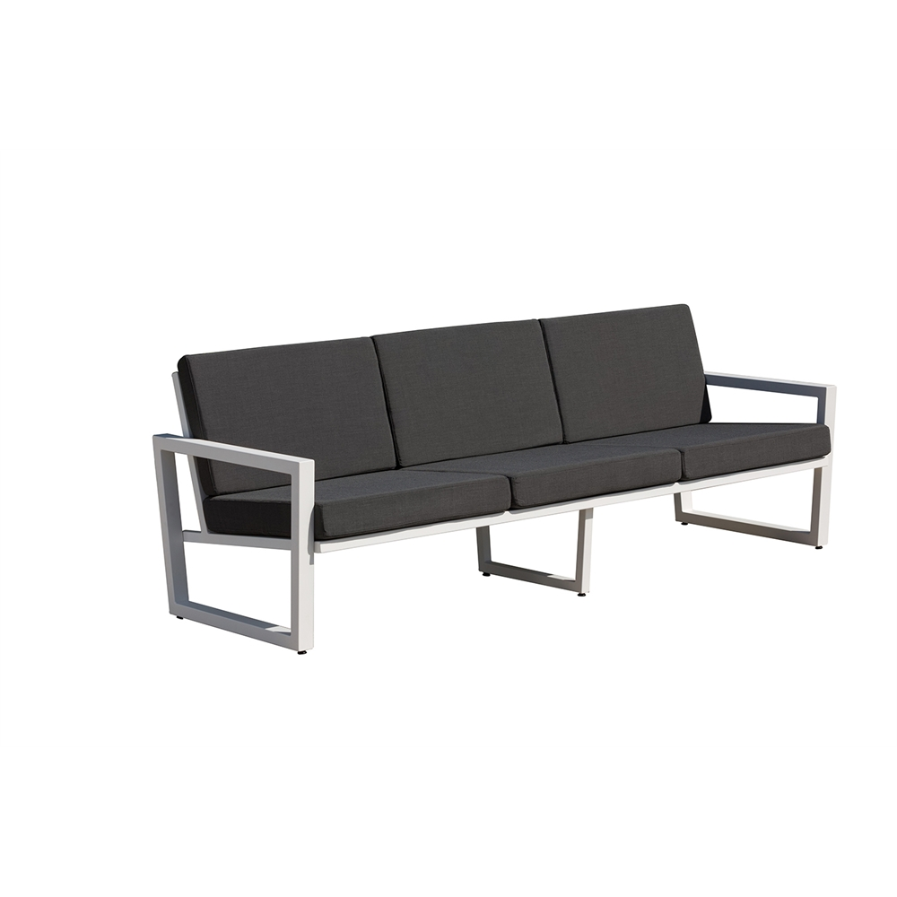 vero outdoor lounge sofa textured white with coal. Black Bedroom Furniture Sets. Home Design Ideas