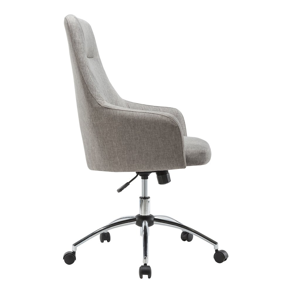 Prime Techni Mobili Comfy Height Adjustable Rolling Office Desk Chair By Techni Mobili Caraccident5 Cool Chair Designs And Ideas Caraccident5Info