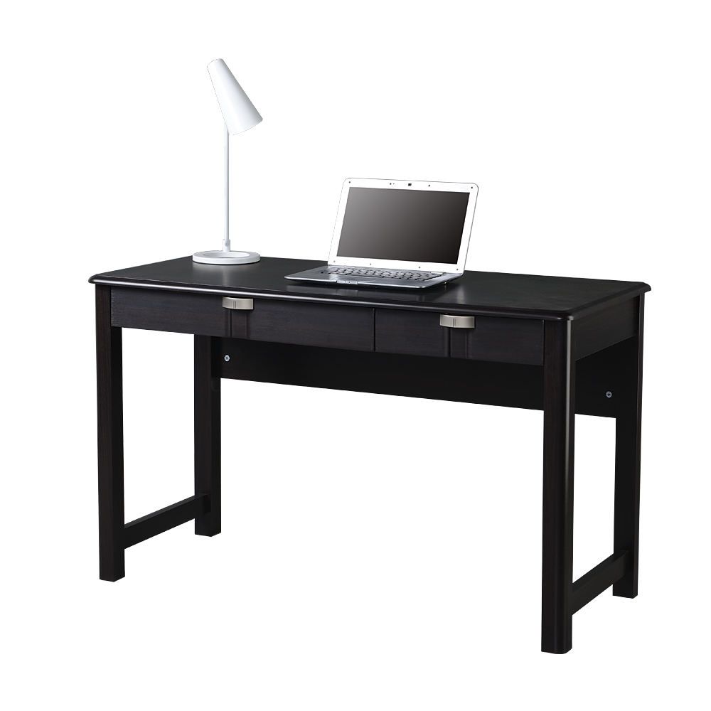 Modern Office Desk: Modern Writing Desk With Storage. Color: Espresso