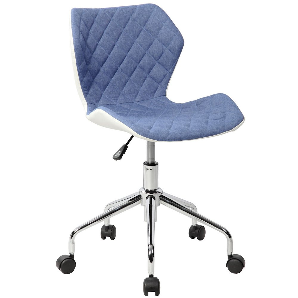 Techni Mobili Modern Height Adjutable Office Task Chair, Blue. Picture 1
