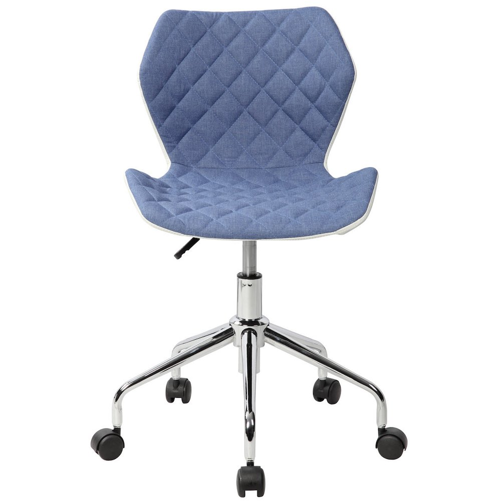 Techni Mobili Modern Height Adjutable Office Task Chair, Blue. Picture 2