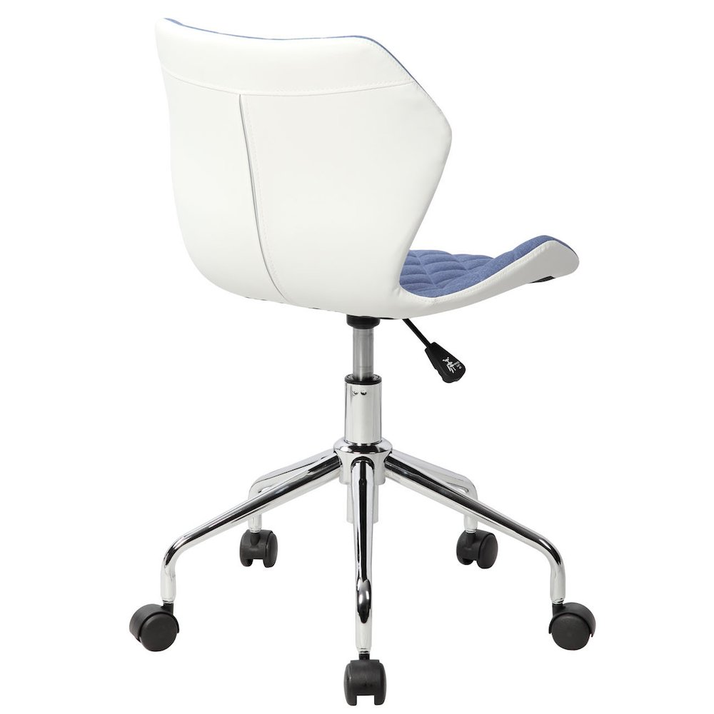 Techni Mobili Modern Height Adjutable Office Task Chair, Blue. Picture 3