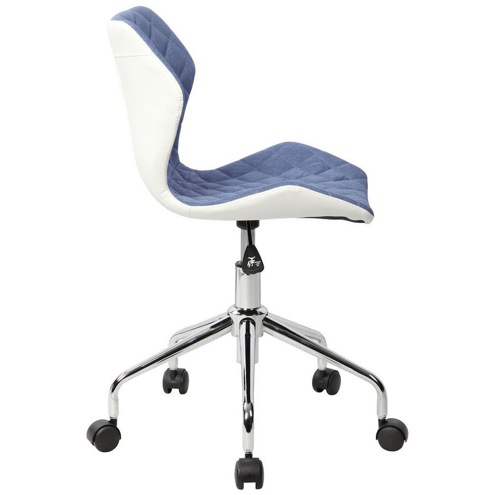 Techni Mobili Modern Height Adjutable Office Task Chair, Blue. Picture 4