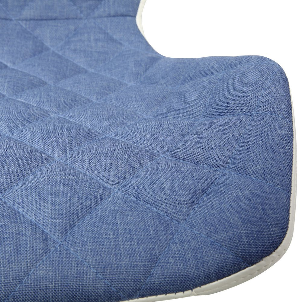 Techni Mobili Modern Height Adjutable Office Task Chair, Blue. Picture 7