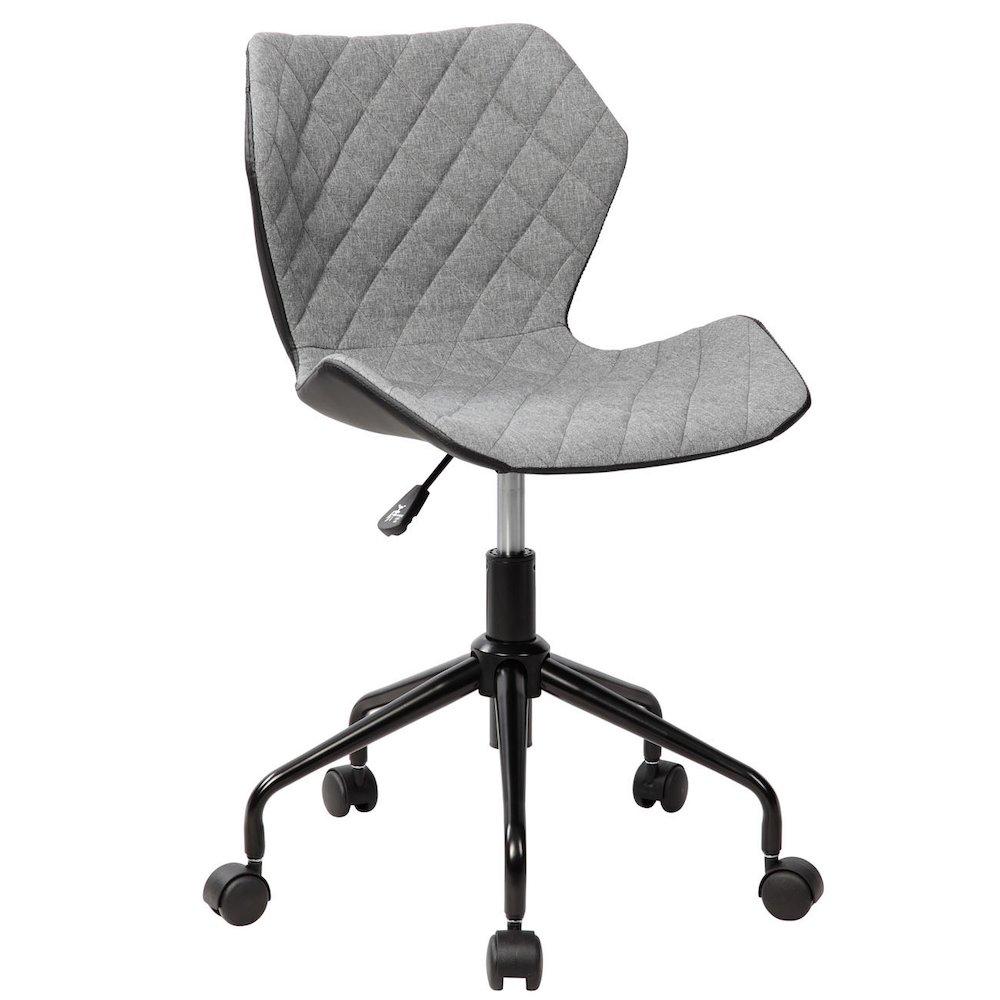 Techni Mobili Deluxe Modern Office Armless Task Chair Grey
