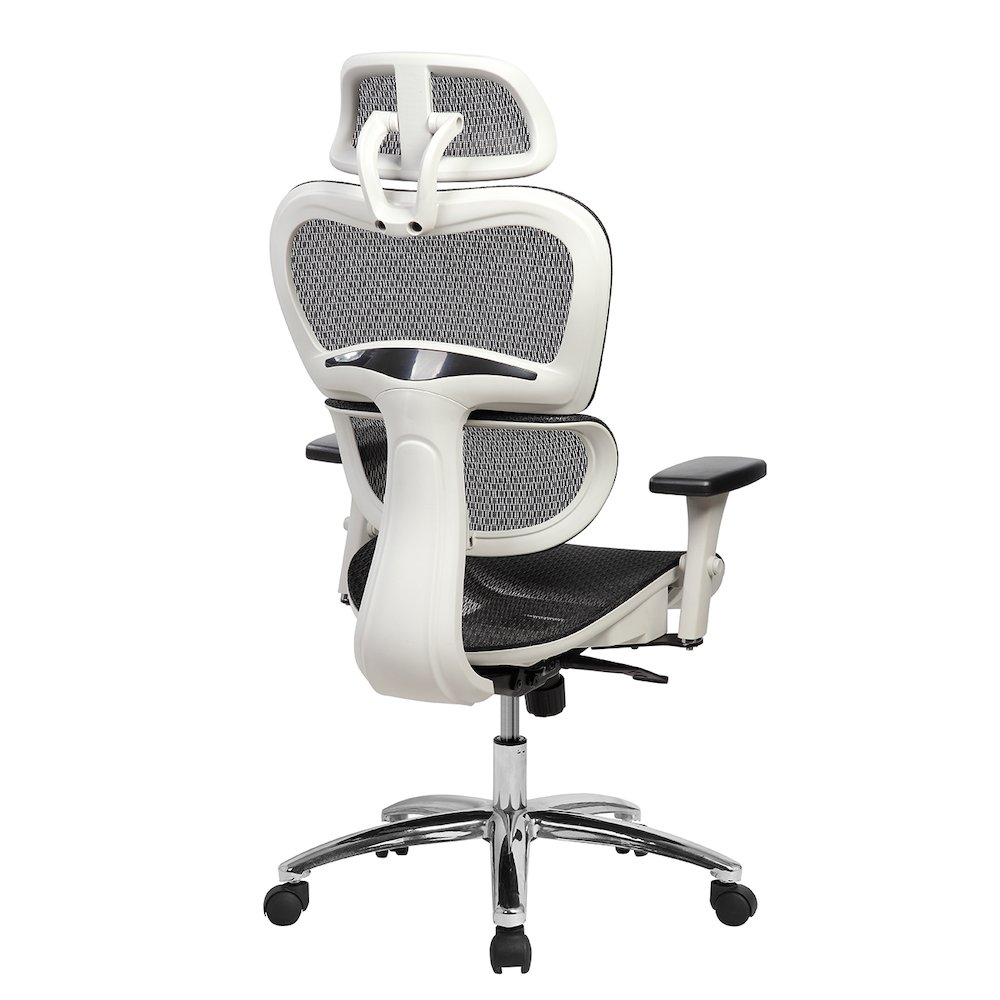 Techni Mobili Deluxe High Back Mesh Executive Office Chair With Neck Support Black