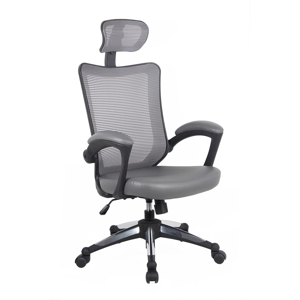 High Back Mesh Executive Office Chair With Headrest Color