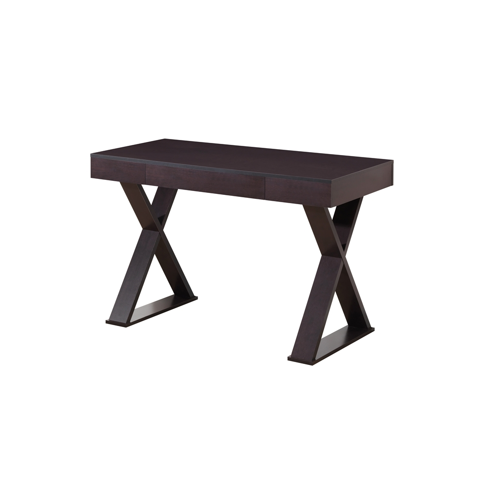 Trendy Desk Supplies: Trendy Writing Desk With Drawer. Color: Espresso