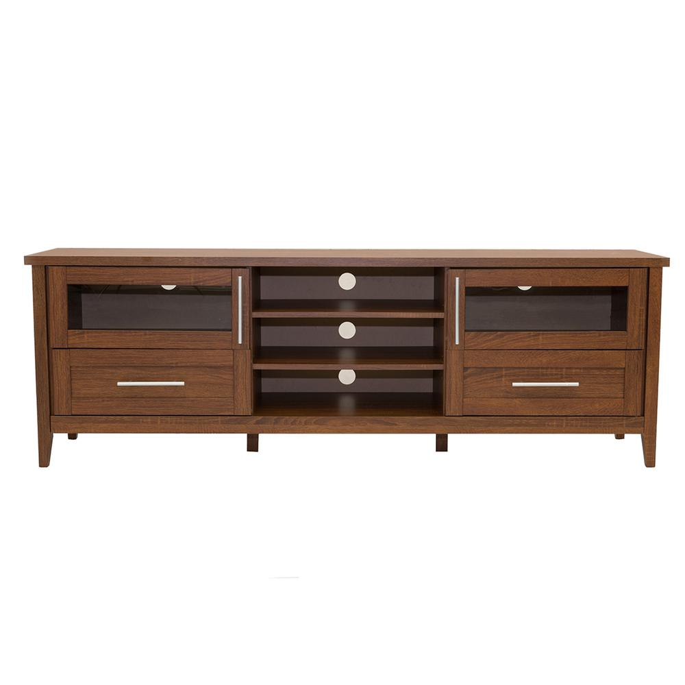 Modern Tv Stand With Storage For Tvs Up To 75 Quot Color Oak