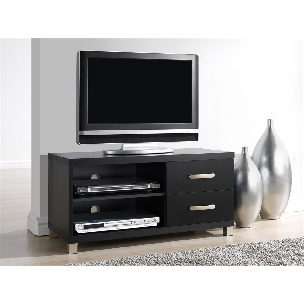 Modern Tv Stand With Storage For Tvs Up To 40 Quot Color Black