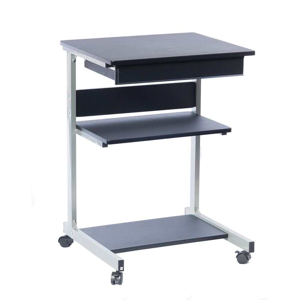 Rolling Laptop Cart With Storage Color Graphite